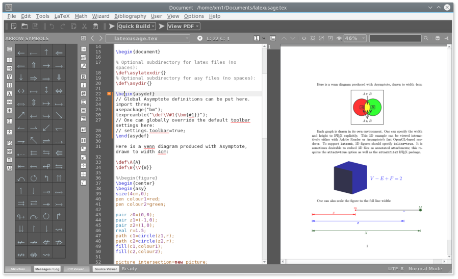 Texmaker Free Cross Platform Latex Editor